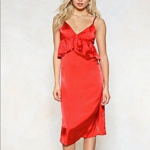 💃🏻Caught in the Midi Satin Dress 4💃🏻